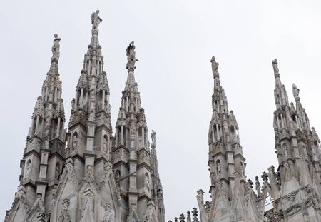 one of the most famous place all around the word. Duomo cathedral in Milan. Millions of tourist comes to Milano to see Duomo. there are thousands of statue on the walls of church.