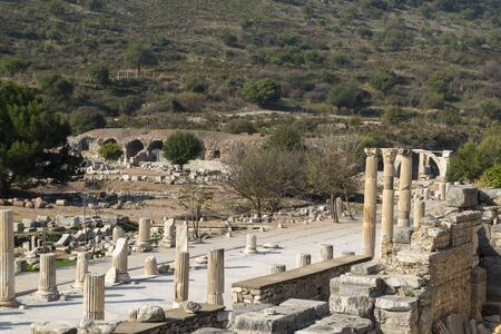 Ephesus is the one of the oldest area all around the world. City was created around BC 10000 by amazon women.this is the part of Ephesus, figures from ancient time. Way of glory, ancient amphitheater, theater, statues, rooms and hundreds of different visuals from Ephesus. Stock Photo
