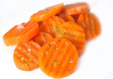 sliced carrots on a dish. Fresh and juicy Stock Photo - 17068857
