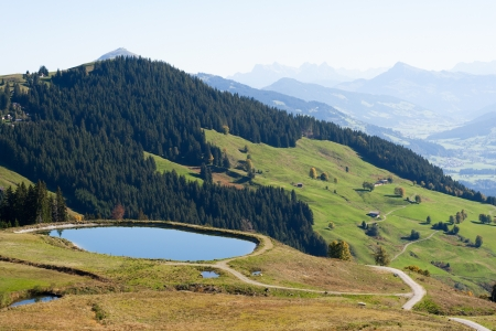 mountainy: A impounding reservoir in th eaustrian mountains.