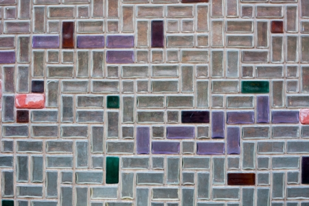 A background picture of glass tiles on a house facade photo