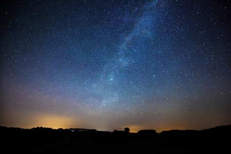 star light: Blue colored picture of the milky way . picture is toned.