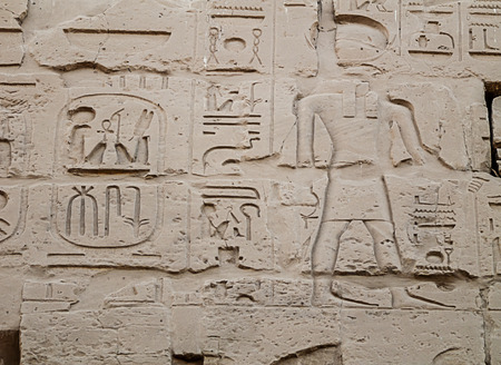 ankh: wall characters in the Temple of Amun-Ra