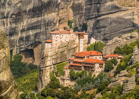 kalampaka: Greece, Meteora. Orthodox monasteries on the cliffs.