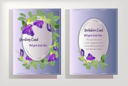 butterfly pea flower on card