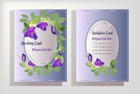 butterfly pea flower on card