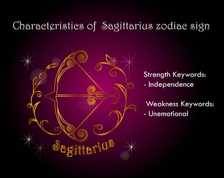 Characteristics of Sagittarius zodiac sign Stock Vector - 101740984