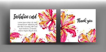 Graphic floral create from hibiscus flower .colorful in abstract style Ilustrace