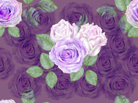 Rose purple color seamless pattern