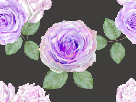 Rose purple color seamless on grey background