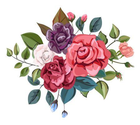 Rose bouquet retro styles
