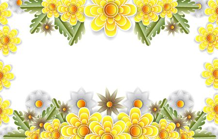 Flower boarder yellow color