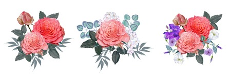 Flower bouquet of roses illustration Ilustracja