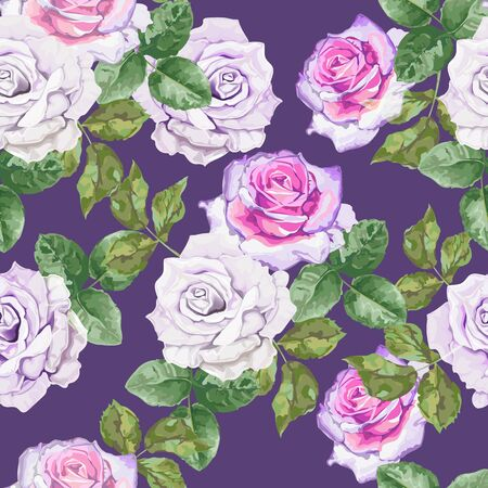 Rose seamless pattern-vector  イラスト・ベクター素材