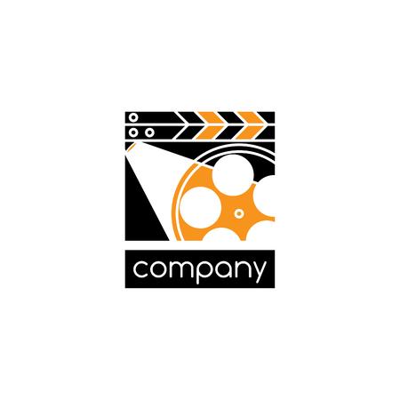 Filming company logo Stock Illustratie
