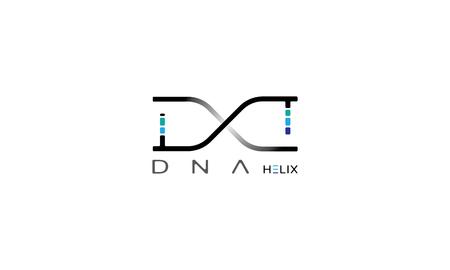 Imagen abstracta de una espiral de ADN.