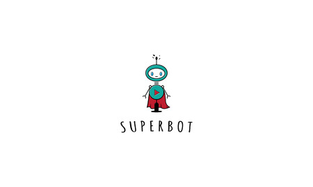 Abstract image of a bot in the form of a superhero. Illusztráció