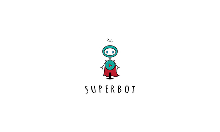 Abstract image of a bot in the form of a superhero. Stock fotó