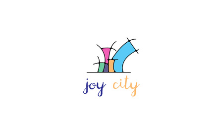 joy city vector logo image Vettoriali