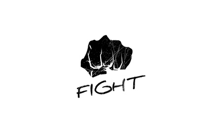 Fight vector logo image