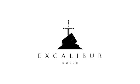 Excalibur vector logo image Illustration