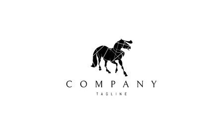 Black Horse Vector logo Image Ilustração