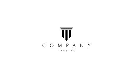 Immagine del logo vettoriale a tre colonne