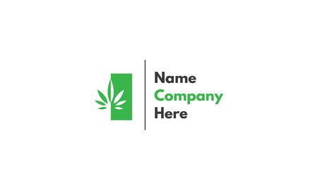 Cannabis Leaf Health Green vector logo design
