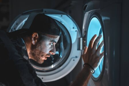 A brave young man facing his nightmares. ship simulation