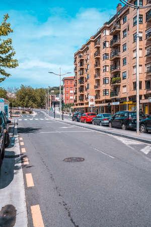 San Sebastian, Gipuzkoa / Spain »; April 30, 2020: Empty streets due to confinement, social distance