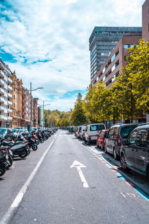 San Sebastian, Gipuzkoa / Spain »; April 30, 2020: Ghost cities by confinement, social distance