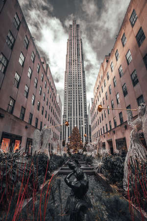 New York, United States »; January 5, 2020: View of the Rockefeller center in the Big Apple of Manhattan