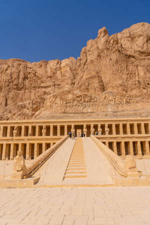 Lovely entrance to the Mortuary Temple of Hatshepsut in Luxor. Egypt