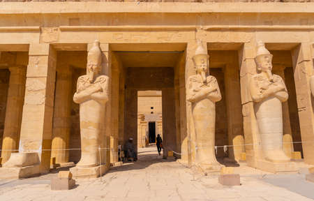Entrance to the Funerary Temple of Hatshepsut in Luxor. Egypt