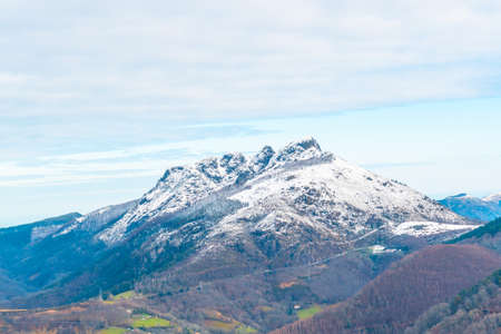 Views of the Oianleku natural park in the town of Oiartzun next to Peñas de Aya, Gipuzkoa. Basque Country