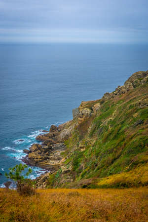 The beautiful views of the sea from Mount Ulia in the city of San Sebastian, Gipuzkoa. Basque Country
