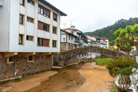 River of the Ea municipality near Lekeitio, Bay of Biscay in the Cantabrian Sea. Basque Country