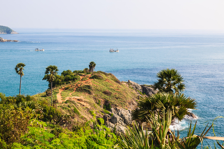 phrom: Laem Phromthep is the one of most important and popular place of Phuket province , Thailand