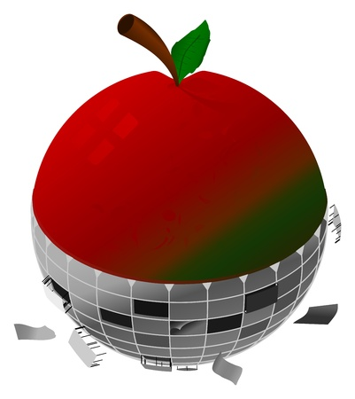 A failing, mechanical apple