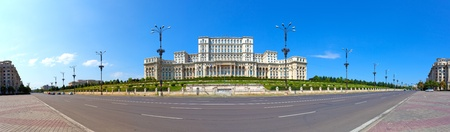 bucharest: Parliament House panorama, Bucharest, Romania