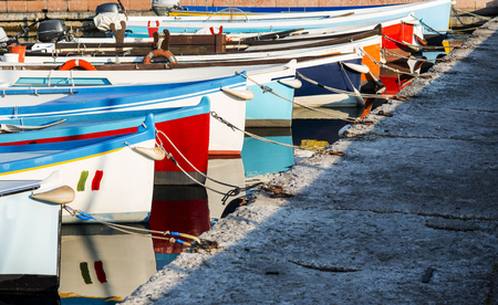 fishing boats: colorful fishing boats moored