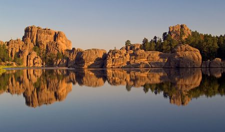 Sylvan Lake, Custer State Park. South Dakota Stock Photo