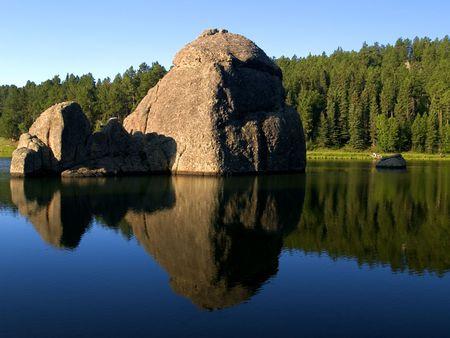 sylvan: Water & Stone -  Sylvan Lake in the Black hills of South Dakota.