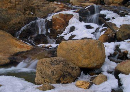 alluvial: Alluvial Fan Falls - Rocky Mountain National Park