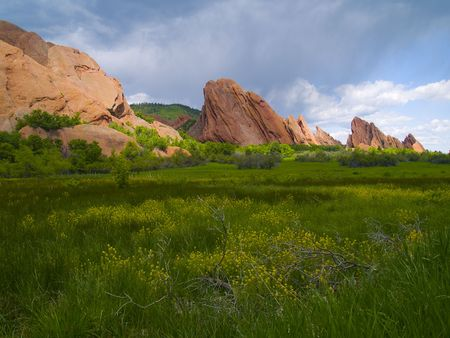 Roxborough Spring - Colorado Stock Photo