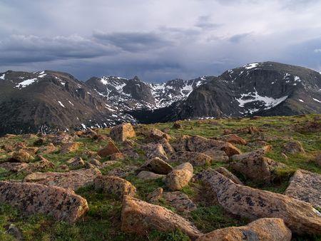 alpine tundra: Alpine Tundra -  Rocky Mountain National Park.