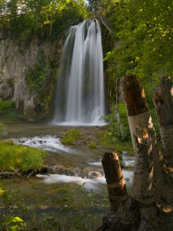Spearfish Falls  - The Black Hills of South Dakota.