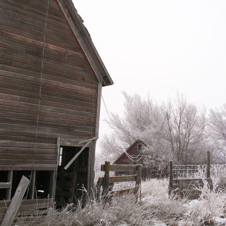 Frosted Farmyard - South Dakota Stock Photo - 2309746