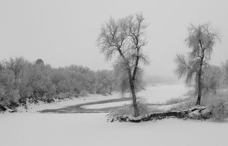 James River Winter - South Dakota Stock Photo - 2324079