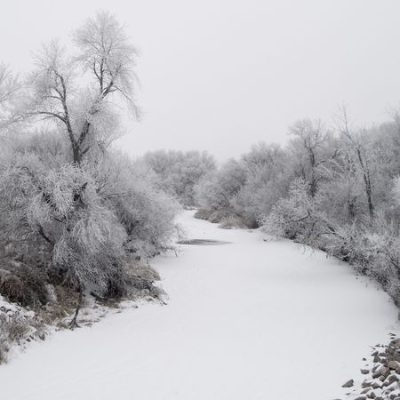 Winter Creek - South Dakota Stock Photo - 2382742